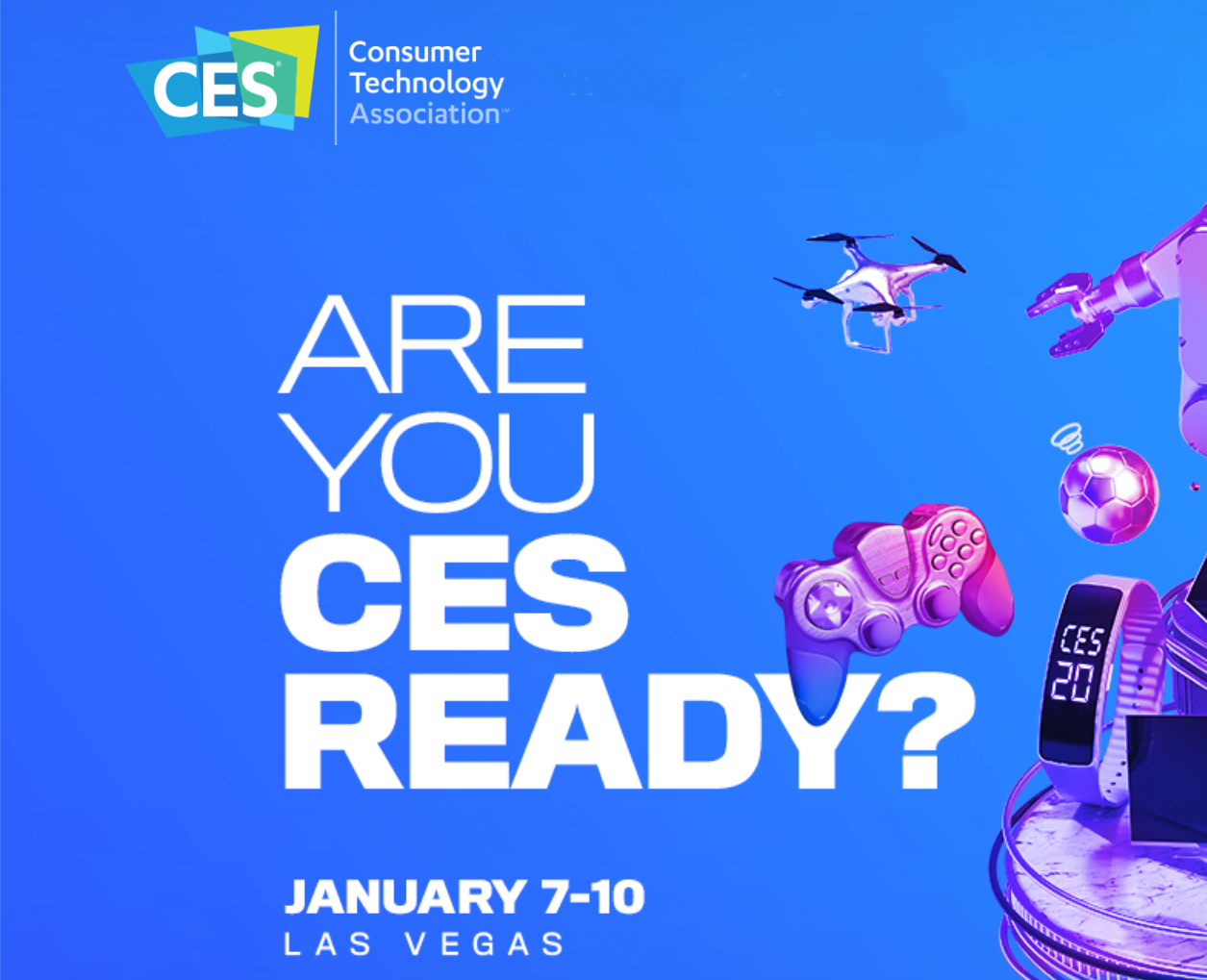 Consumer Electronic Show - CES 2020 poster